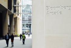 Bloomberg-Säulengang in der Stadt von London wurde Ende 2017 eröffnet und 10 in hohem Grade Nennrestaurants kennzeichnet Lizenzfreies Stockfoto