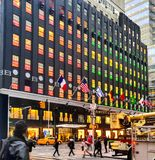 Bloomimgdales NYC Lexington ave. Store shopping colorful Royalty Free Stock Image