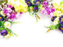 Blooming Bouquet Flowers on white background. Bouquet Flowers on white background Stock Photo