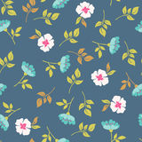 Blooming briar. seamless pattern Stock Photography