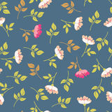 Blooming briar. seamless pattern Royalty Free Stock Photo