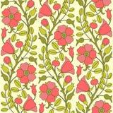 Blooming dog rose pattern Stock Photo