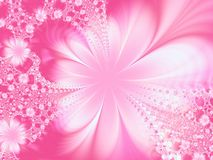 Blooming fantasy. Fractal image of flowers Royalty Free Stock Photo