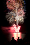 Blooming firework of international firework festi. Display of Blooming firework, mixed color Stock Images