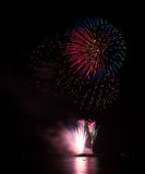 Blooming firework of international firework festi. Display of Blooming firework, mixed color Royalty Free Stock Photography