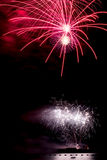 Blooming firework of international firework festiv. Display of Blooming firework Stock Photography