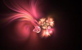 Blooming flower abstract. Blooming flower. Abstract floral fractal background Stock Images
