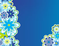 Blooming flower border. Blooming flowers bordering the page royalty free illustration