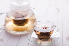 Blooming Flower Tea Stock Photography