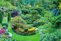 Blooming Gardens in British Columbia Royalty Free Stock Photography