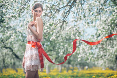 Blooming girl Stock Photos