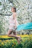 Blooming girl Stock Photo