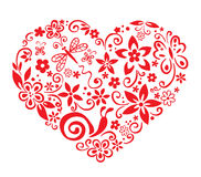 Blooming heart. Vector illustration - red blooming heart royalty free illustration