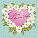 Blooming heart Stock Photography