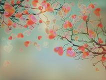 Blooming hearts tree concept. EPS 10 Royalty Free Stock Image