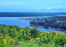 Blooming Overlook of Michigan Tech Royalty Free Stock Photos