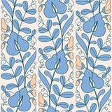 Blooming peas pattern Stock Photos
