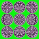 Blooming pink wheels motion illusion Royalty Free Stock Photo