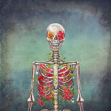 Blooming skeleton Royalty Free Stock Photography
