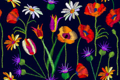 Blooming summer wildflowers. vector illustration
