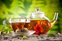Blooming tea Stock Photos