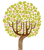 Blooming tree. Colorful blooming tree. vector illustration Stock Photography