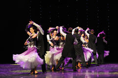 Blooming violets-Israeli folk dance-the Austria's world Dance Stock Photography