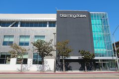 Bloomingdale's. SANTA MONICA, UNITED STATES - APRIL 6, 2014: Bloomingdale's store in Santa Monica, California. Bloomingdale's is a chain of 43 upscale department royalty free stock photos