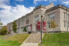 School of Public Health at University of Indiana. BLOOMINGTON, IN/USA - OCTOBER 22, 2017: School of Public Health on the campus of the University of Indiana royalty free stock photo