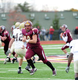 Bloomsburg tight end Ben Weaber runs a route Royalty Free Stock Images