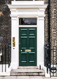 Bloomsbury door in London. England Royalty Free Stock Photo