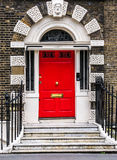 Bloomsbury door in London. England Royalty Free Stock Photography