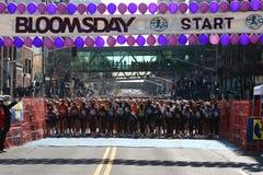 Bloomsday Spaß lassen 2008 Anfangszeile laufen Lizenzfreie Stockfotografie