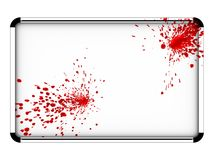 Blooody chrome board. Chrome board with red spots Stock Photos