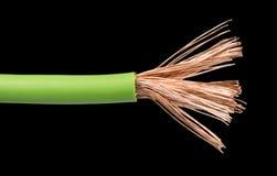 Blootgestelde kabels en draden Stock Afbeelding