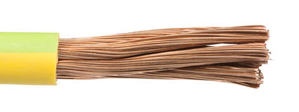 Blootgestelde kabels en draden Stock Foto