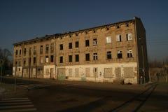 Bloque abandonado que construye Polonia Imagen de archivo