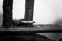 Bloque cerrado del puente peatonal Imagen de archivo