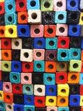 Bloque colorido con el agujero Imagen de archivo