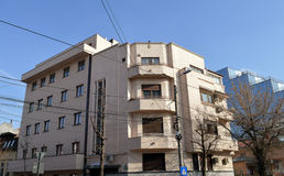Bloque de apartamentos de Art Deco, Bucarest, Rumania Imagen de archivo