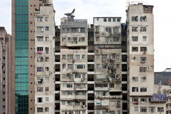 Bloque de apartamentos de Hong-Kong en Kowloon Imagen de archivo