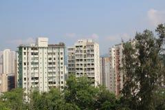 Bloque de apartamentos en Hong-Kong Fotos de archivo libres de regalías