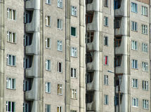 Bloque de apartamentos severo en Rusia Imagen de archivo