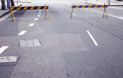 Bloque de camino Foto de archivo libre de regalías
