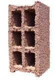 Bloque de cemento - naranja roja Imagen de archivo libre de regalías