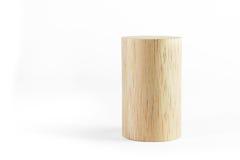 Bloque de cilindro de madera Imagenes de archivo
