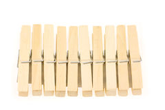 Bloque de clothespins Imágenes de archivo libres de regalías
