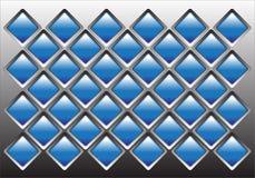 Bloque de cristal azul en el ejemplo gris Fotos de archivo