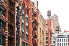 Bloque de edificios en Soho Manhattan, New York City Foto de archivo