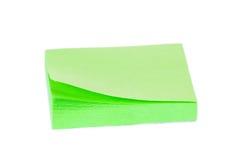 Bloque de etiquetas engomadas verdes Imágenes de archivo libres de regalías